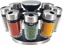 Cole & Mason Premium 8 Jar Filled Herb and Spice