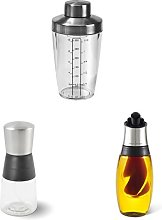 Cole & Mason Salad Dressing Shaker with Oil and Vinegar Mister and Oil and Vinegar Duo Pourer
