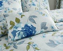 Colette Blue Cushion 30x50cm Bed/Sofa Filled