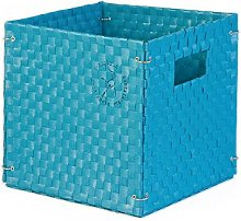 Colibries Camelia' Foldable Basket, Blue