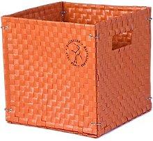 Colibries Camelia' Foldable Basket, Orange