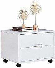 COLiJOL Bedside Table Nightstand Storage Shelf