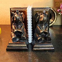 COLiJOL Bookends Home Study Desk Elephant Bookend