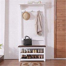 COLiJOL Coat Rack Floor Hanger Shoe Cabinet Coat