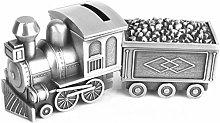 COLiJOL Coin Money Box Coin Savings Tin Pull Coal