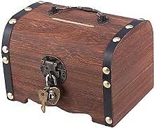COLiJOL Coin Money Box Coin Savings Tin Treasure