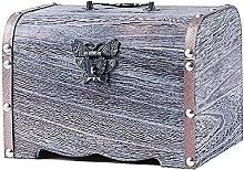 COLiJOL Coin Money Box Coin Savings Tin Wooden