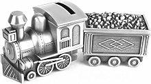 COLiJOL Coin Money Box Pull Coal Train Money Box