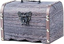 COLiJOL Coin Money Box Wooden Piggy Bank Safe