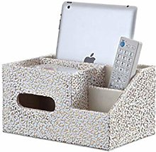 COLiJOL Napkin Organzier Leather Tissue Box Cover,