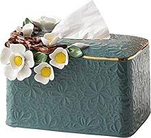 COLiJOL Napkin Organzier Tissue Box Cover Ceramic