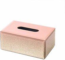COLiJOL Napkin Organzier Tissue Box Holder Glass