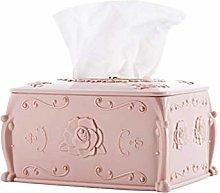 COLiJOL Napkin Organzier Tissue Box Holder Rose