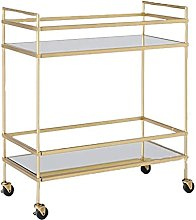 COLiJOL Shelf Trolley Gold/Silver 2-Tier Shelf
