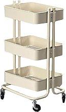 COLiJOL Shelf Trolley Stainless Steel 3 Tier Shelf