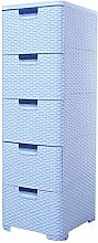COLiJOL Wardrobe Dresser 5 Drawer Storage Cabinet