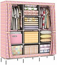 COLiJOL Wardrobe Storage Cabinet with Metal Shelf