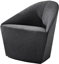Colina Small Padded armchair by Arper Grey/Black