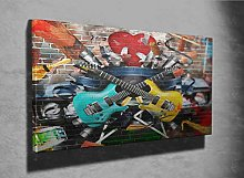 Collage of Music Photo Canvas Print (38916455)