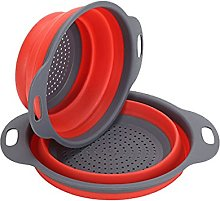 Collapsible Colander Set, BSVLIA 2 Pack Silicone