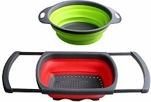 Collapsible Colander Set of 2 - Silicone Kitchen