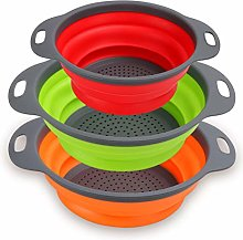 Collapsible Colander Set of 3 - Silicone Kitchen