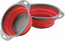 Collapsible Colander Set–Silicone Folding