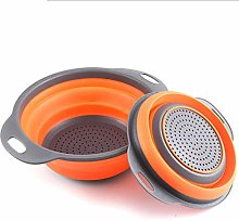 Collapsible Colander Set,Silicone Folding