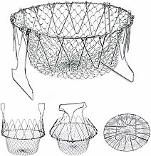 Collapsible Colander Stainless Steel Food Strainer