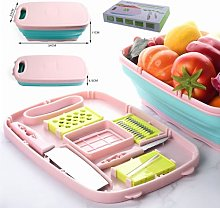 Collapsible Cutting Board,9 in 1 Multifunction