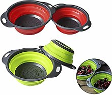 Collapsible Drain Basket Food Strainers Space