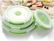 Collapsible Food Storage Container with Lid