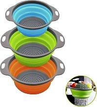 Collapsible Kitchen Colander / 3 Colander Sets,