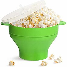 Collapsible Microwave Popcorn Maker Bowl Bags, Hot