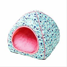 Collapsible Pet Kennel Cat House Bed Dog Mats Tent