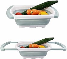 Collapsible Silicone Colander Expandable Kitchen