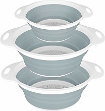 Collapsible Silicone Colander,SKERITO Set of 3