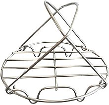 Collapsible Stainless Steel Steam Rack, Morehappy7