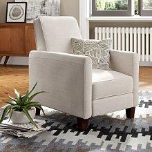 Collard Recliner Marlow Home Co. Upholstery: Light