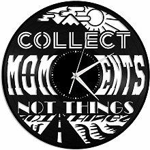 Collect Moment Vinyl Wall Clock-Retro Vinyl Record