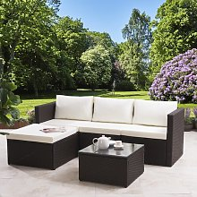 Colleen 4 Seater Rattan Corner Sofa Set Zipcode