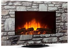 Colmar Electric Fireplace Glass 2000W 7 LED Colors