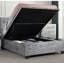 Cologne Steel Fabric Ottoman Storage Bed - 5ft
