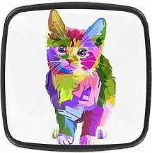 Color Cat 4pcs Colorful Crystal Glass Cupboard