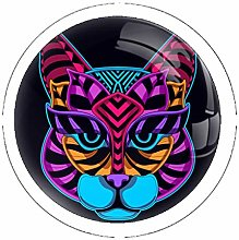 Color Cat Solid Kitchen Cabinet Knobs Round Drawer