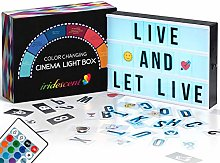 Color Changing Cinema Light Box with Letters - 354