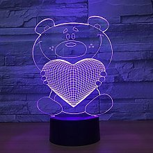 Color-Changing Three-Dimensional Hug Love 3D Table