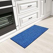 Color&Geometry Narrow Runner Rug, Kitchen Mat,