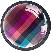 Color Grid 4 PCS Decorative Cabinet Wardrobe