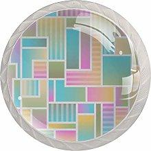 Color Grid 4PCS Drawer Knobs,Cabinet Knobs,Drawer
